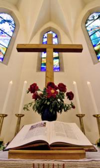 Berger Kirche Altar Detail