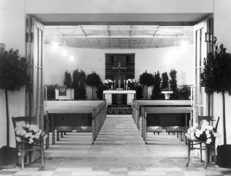Heilandskirche 1950, Notkirche innen